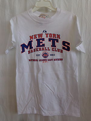New York Mets Majestic Adult 'Established' White Tshirt - New With Tags
