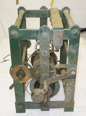 SINGLE TRAIN PLATE & SPACER RARE TURRET CLOCK APPROX 1800s-1850.