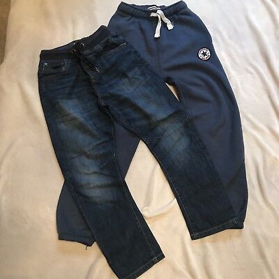 Lovely Boys Next Jeans And Converse Trackie Bottoms Blue Age 9-10