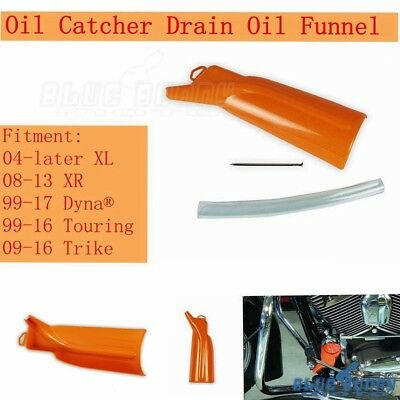 Motorcycle Oil Catcher Drain Oil Funnel Fit Harley 04-later XL 99-16 Touring XR