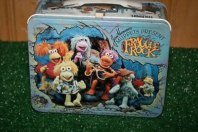 1984 Muppets Fraggle Rock Metal Lunch Box No Thermos