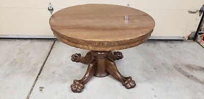 Antique Oak Claw Foot Dining Table