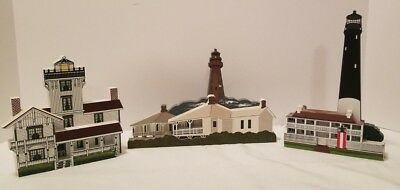 3 Shelia's Lighthouses 1998 Pensacola & Sanibel Florida + 1995 Point Fermin CA