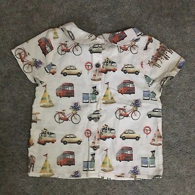Next Short Sleeved Holiday Print Quirky Blouse 18-24months