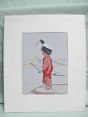 Margo Mc Menemy  Silkscreen Print of Youg Indian Boy