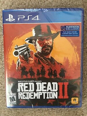 Red Dead Redemption 2 Steelbook Edition Sony Playstation 4 PS4 Brand New Sealed