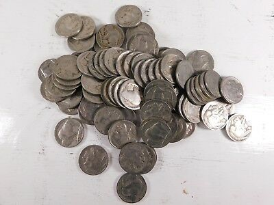 Lot of 80 Buffalo Nickels Mix of Full Date-Partial Date-No Date. More full date