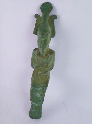 BEAUTIFUL ANCIENT EGYPTIAN BRONZE God Osiris Statues 300 Bc