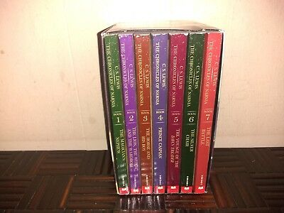 The Chronicles Of Narnia Book Set...paperback...lot Of 7