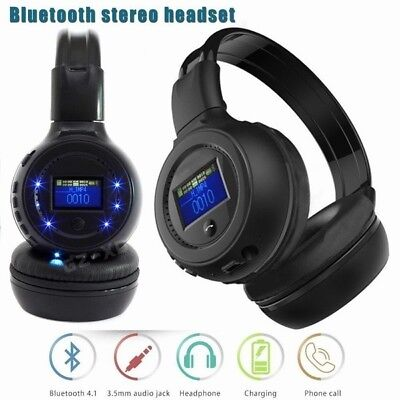 Stereo Bluetooth3.0 Wireless FM SD TF Card MP3 Headset Headphone With Microphone