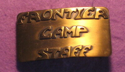 Pioneer Scout Reservation Camp Pioneer Ohio Solid Brass Belt Buckle