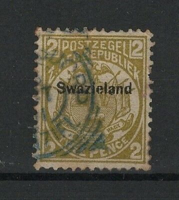 Swaziland overpr.Transvaal stamp with Postmark Bremersdorp * Kingdom of Eswatini