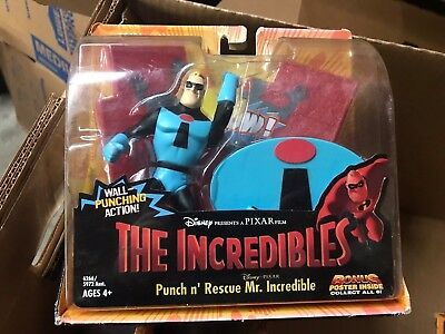 Disney Pixar The Incredibles Punch N' Rescue Mr Incredible Figure Toy 2003