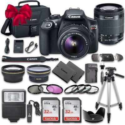 Canon EOS Rebel T6 / 1300D DSLR Camera + 18-55mm IS 64GB Top Kit