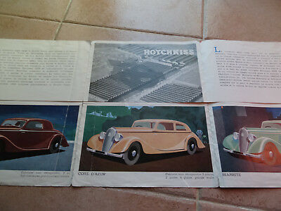 Rare Ancien - Authentique Depliant Pub - Auto - Hotchkiss - 1934 - Vintage Flyer
