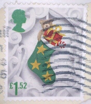 "Used Gb Christmas 2016 ""stocking"" £1.52 Sg3909 High Value Stamp"