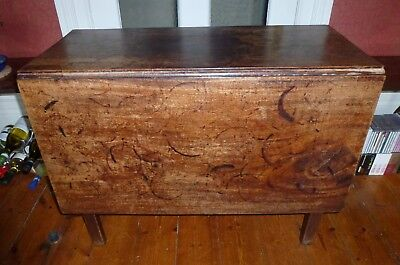 Victorian Antique Mahogany Drop Leaf Gate Leg Dining Table With Rectangular Top