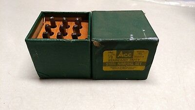 """Ace - Hanson - Steel Stamp Set - Numbers, 1/8"""" no. 386313"""