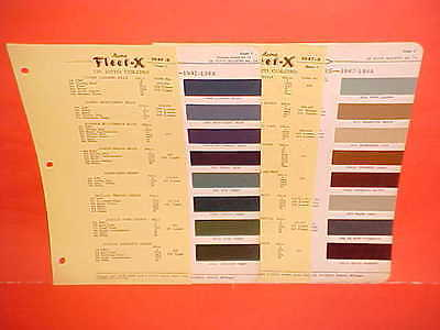 1947 1948 Desoto Deluxe Custom Convertible Coupe Suburban Sedan Paint Chips