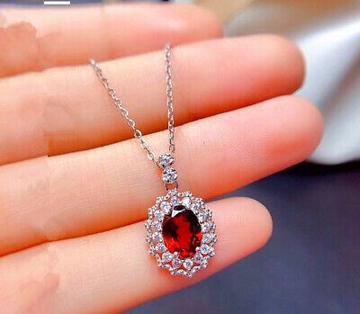 Rose Gold Rose Pendant 925 Sterling Silver Necklace Women's Jewellery Xmas Gifts