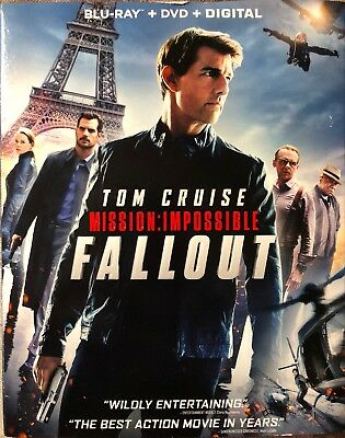 Mission Impossible - Fallout (Blu-ray Combo Pack, 2018, 3 Disc Ed.) Tom Cruise
