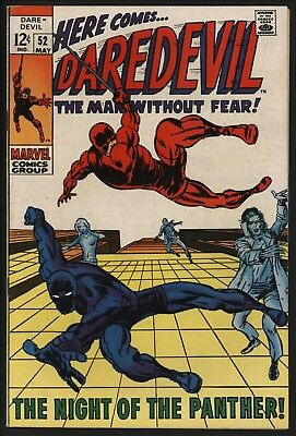 Daredevil #52 With Black Panther! Great Cover! Barry Smith Artwork White Pages