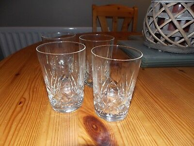 4 Small lead crystal tumblers