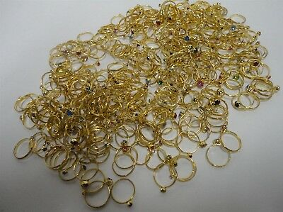 LOT OF 1,000 CRYSTAL  RINGS     1000 pieces