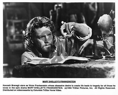 Mary Shelley's Frankenstein Movie Still B&W Photo Kenneth Branagh Robert De Niro