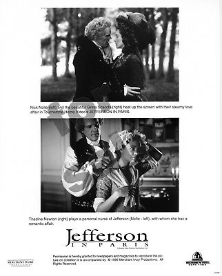 Jefferson In Paris Movie Still B&W Photo Nick Nolte Greta Scacchi