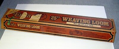 "Erica 25"" Rigid Heddle Vintage Wood Frame Weaving Loom 1970s New in Box"
