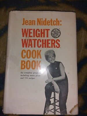 Vintage Jean Nidetch Weight Watchers Cook Book Hardcover 1966