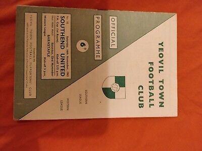 Yeovil Town v Southend United United 63/64 (FA Cup)