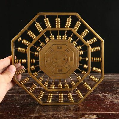 China Old handmade bronze Lucky Gossip Abacus Statues Decoration