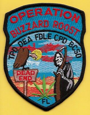 C5 * Dea Drugs Enforcement Agency Op Buzzard Roost Fl Ice Fed Police Patch Hidta
