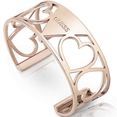 Bracciale Donna Guess My Bangle Pattern Heart Rose Gold UBB28087