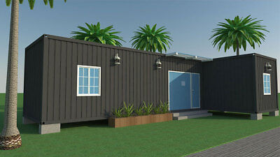 Container house mobile house home L shape 45sqm turn-key