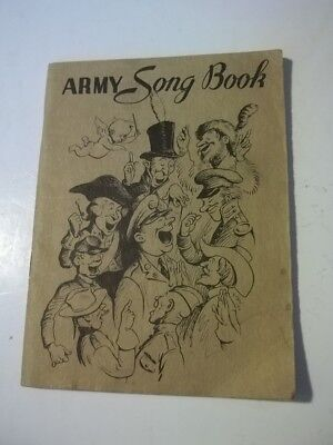 1941 Army Song Book Property Of US Government Great Cover Graphics