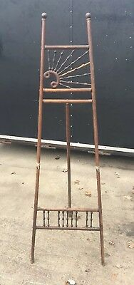 Antique Wood Artist Painters Easel Stick and Ball Victorian