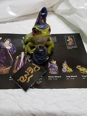 Windstone Editions FROG WIZARD Crystal Ball New unused Melody Pena