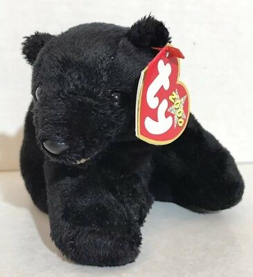 "New 2000 Ty Beanie Baby Babies -5"" Cinders The Black Bear -Retired"