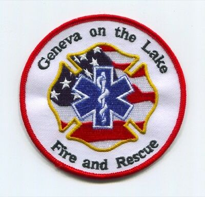 Geneva On The Lake Fire And Rescue Department Patch Ohio Oh & Dept. Ems