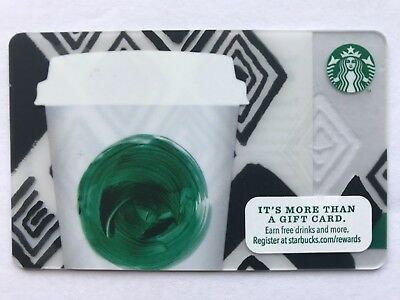 2013 Starbucks Gift Card Green Swirl Cup Unused Pin Intact No Stored Value 6096