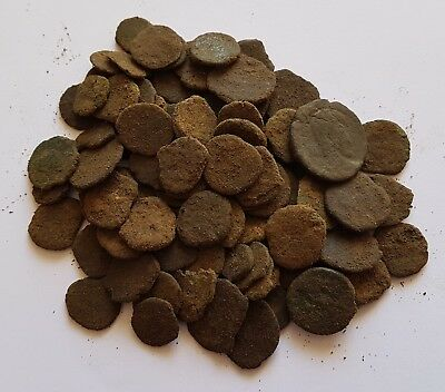 AGN - INTERESTING LOT of 100 LATE ROMAN IMPERIAL & VANDALS AE BRONZE COINS