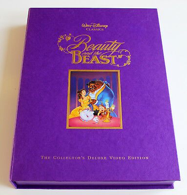 Beauty And The Beast The Collector's Deluxe Video Edition Rare Walt Disney + + +