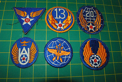 WWII ORIGINAL US Army Airforce USAAF Patches lot of 6 12-054