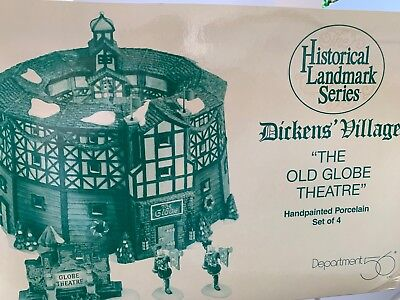 "Dept 56 Heritage Dickens' Village Series ""The Old Globe Theatre"" set of 4 #58501"