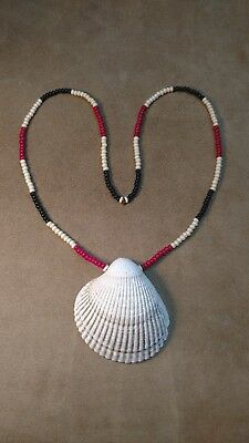 Shell Gorget and Trade Bead Necklace, Eastern Woodlands, Longhunter!! New!!