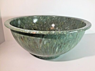 "Vintage TEXAS WARE USA Green Confetti 10"" Bowl Melmac Colorful Speckle Splatter"