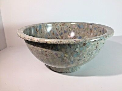 "Vintage TEXAS WARE USA Gray Confetti 8"" Bowl Melmac Colorful Speckle Splatter"